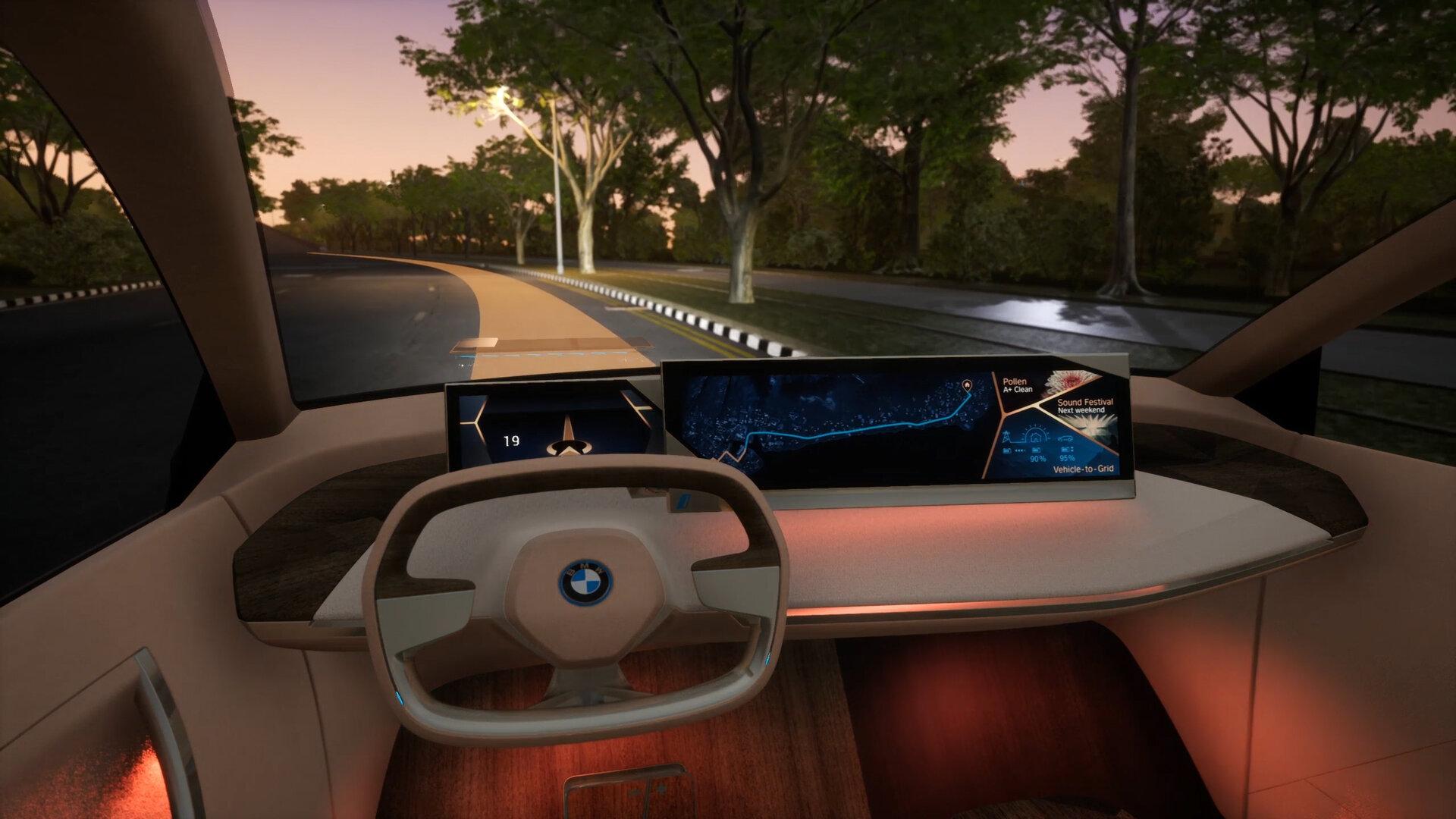BMW Vision iNEXT im Boost-Modus