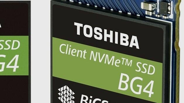 Toshiba BG4: Mini-SSD mit 1 TB 96-Layer-NAND im einzelnen Package
