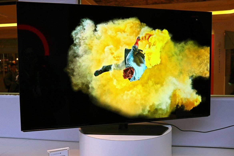 Alienware 55 OLED Monitor als Vorführmodell auf der CES