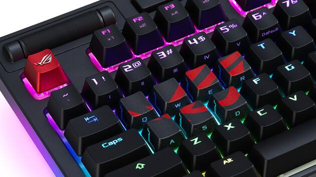ROG Strix CTRL & TUF Gaming K7: Asus zeigt mechanische Tastaturen und ROG-Keycaps