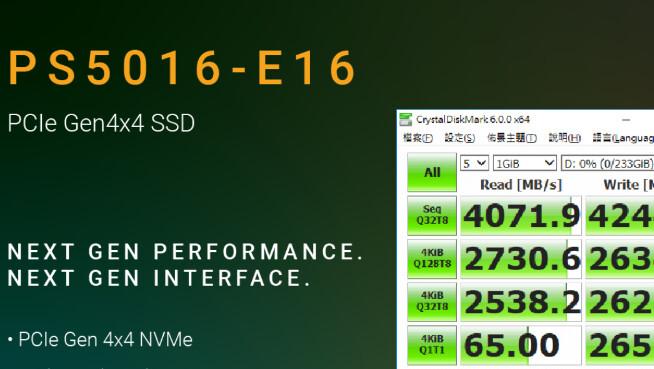 PS5016-E16: Phison zeigt ersten PCIe-4.0-SSD-Controller
