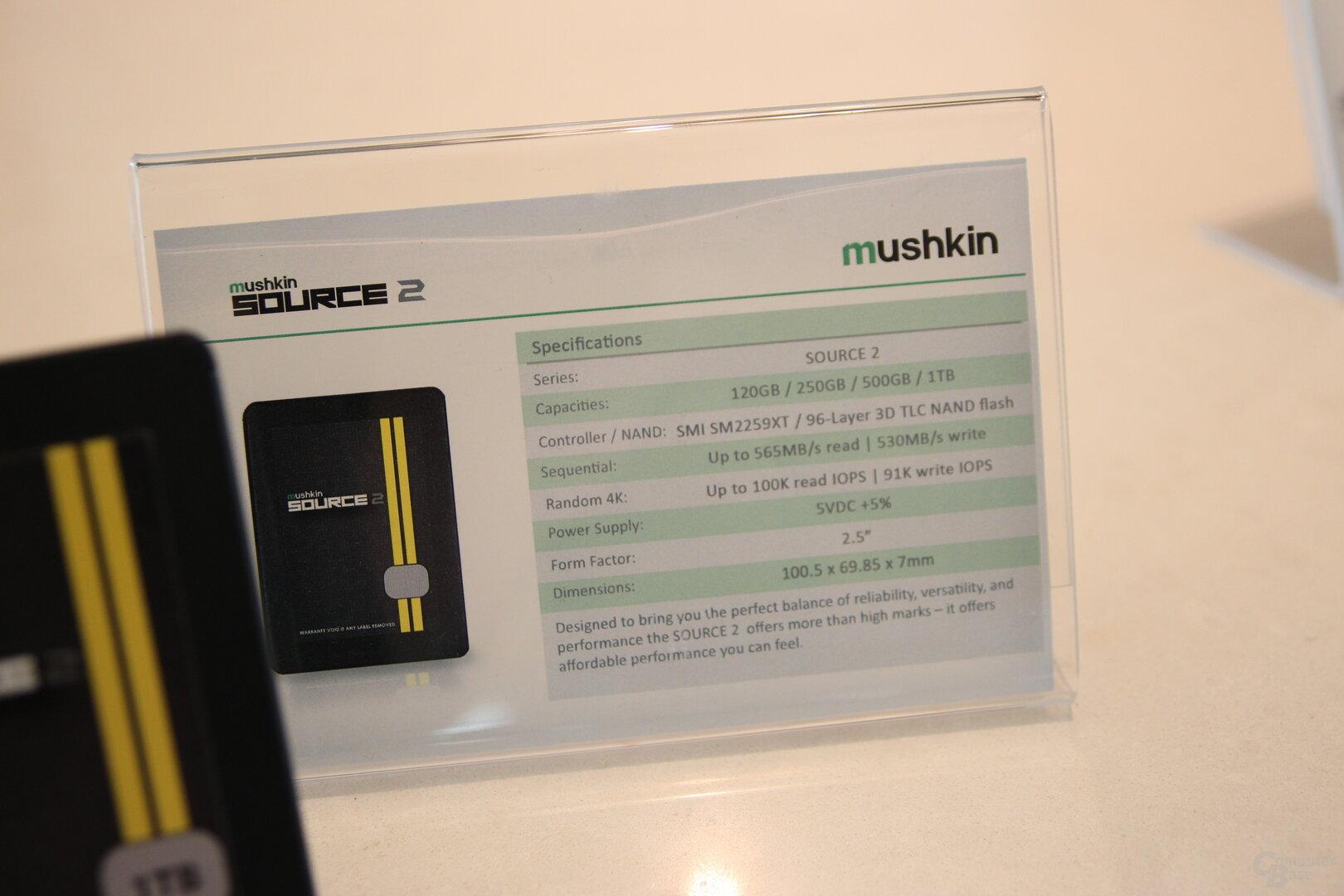 Mushkin Source 2 SATA-SSD