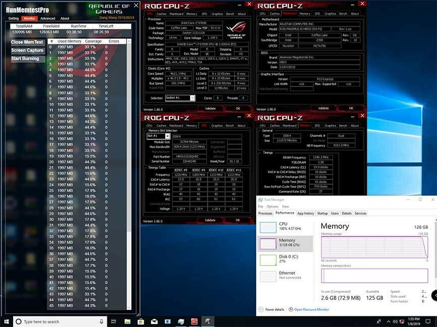 Asus Maximus XI Hero mit 128 GByte DDR4-RAM