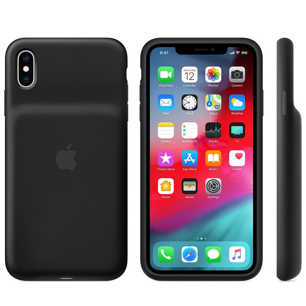 Smart Battery Case (Schwarz) für iPhone Xs