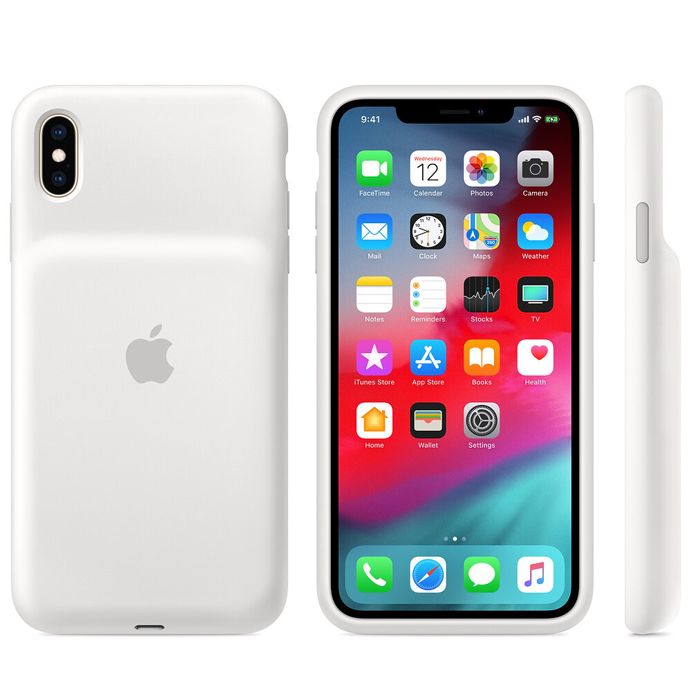 Smart Battery Case (Weiß) für iPhone Xs