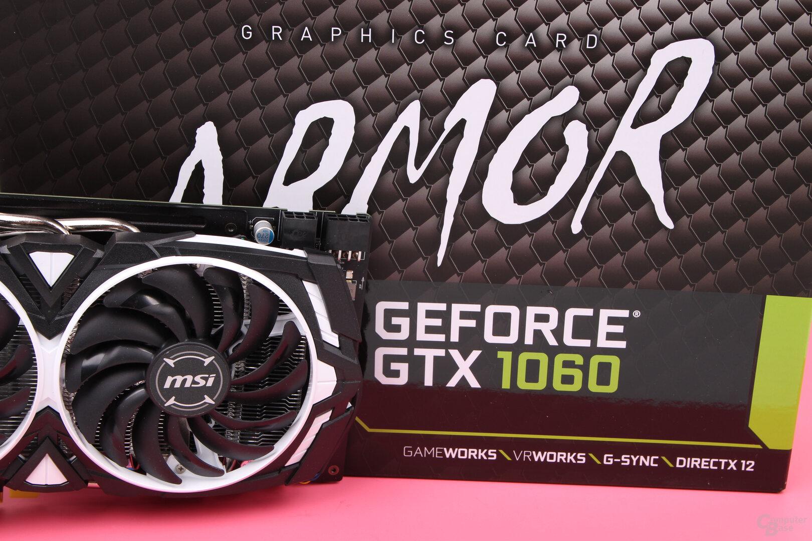 MSI GeForce GTX 1060 Armor mit GDDR5X im Test