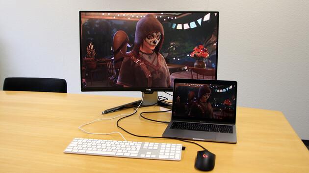 """BenQ EX3203R im Test: 31,5"""", 144 Hz, USB-C und tolle Farben nicht nur für Spieler"""