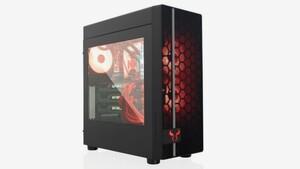 Riotoro CR400: Schlichter Mesh-Midi-Tower leuchtet rot