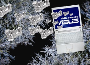 ASUS White Xmas Notebook