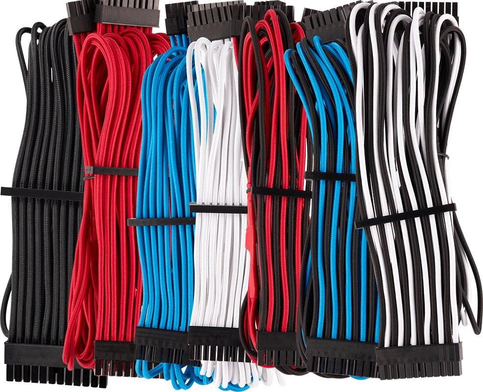 Schwarz, Rot, Blau, Weiß und gemischte Farben