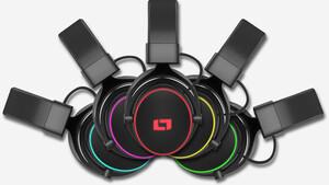 Lioncast LX55: Headset mit Klinke oder USB und RGB-Beleuchtung