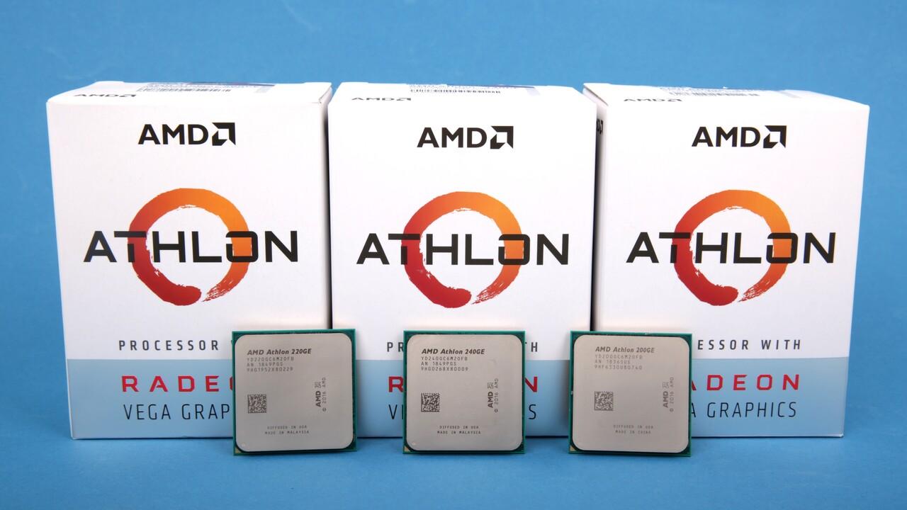 AMD Athlon 200GE, 220GE, 240GE im Test: Drei Prozessoren, zwei Gewinner