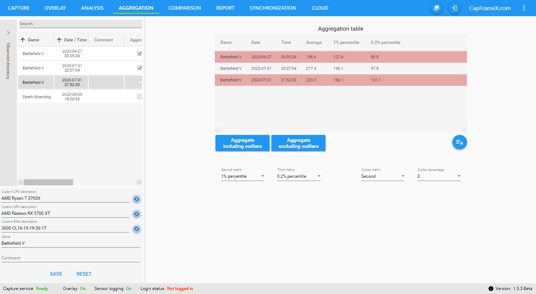CapFrameX – Aggregation