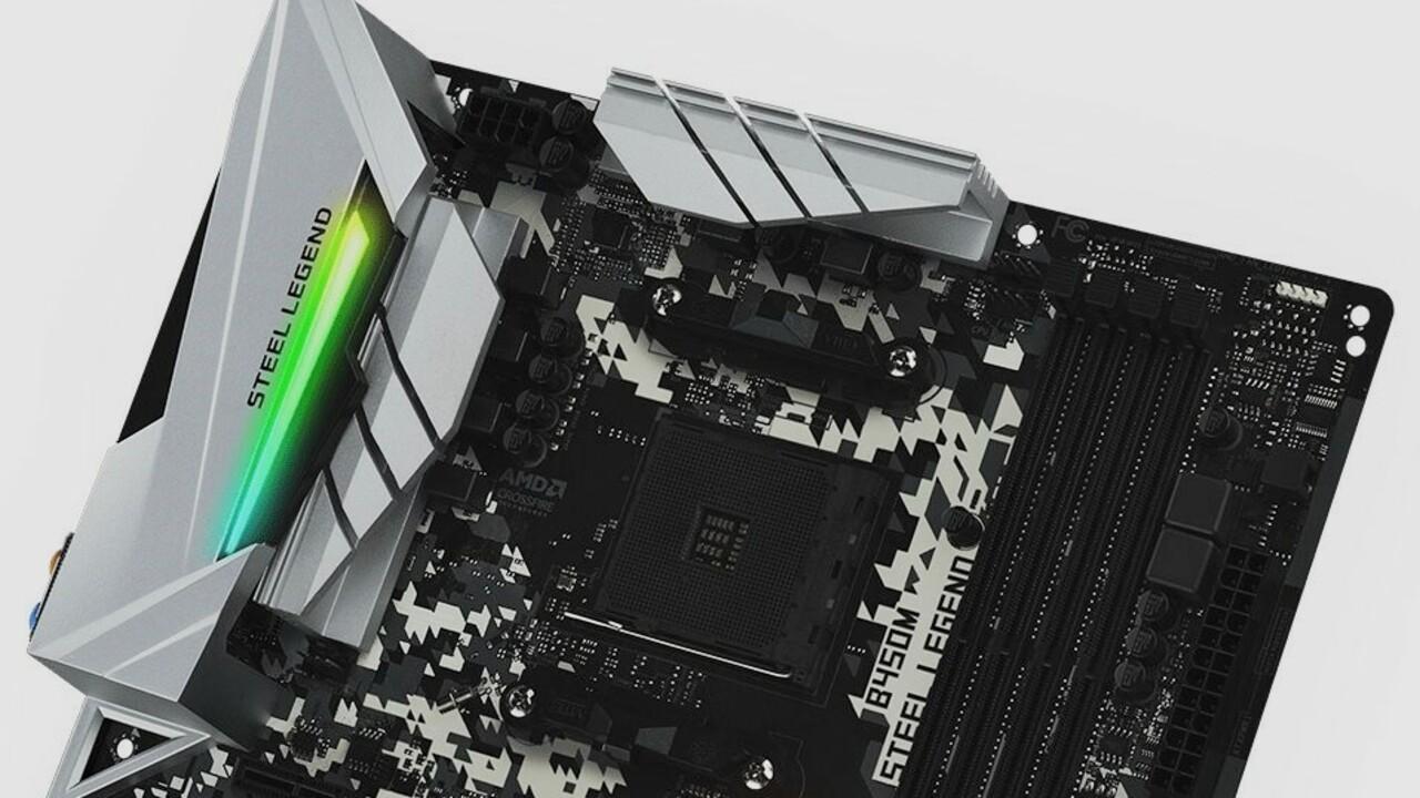 B450(M) Steel Legend: Neue Mainboard-Serie startet bei ASRock mit B450-Chipsatz