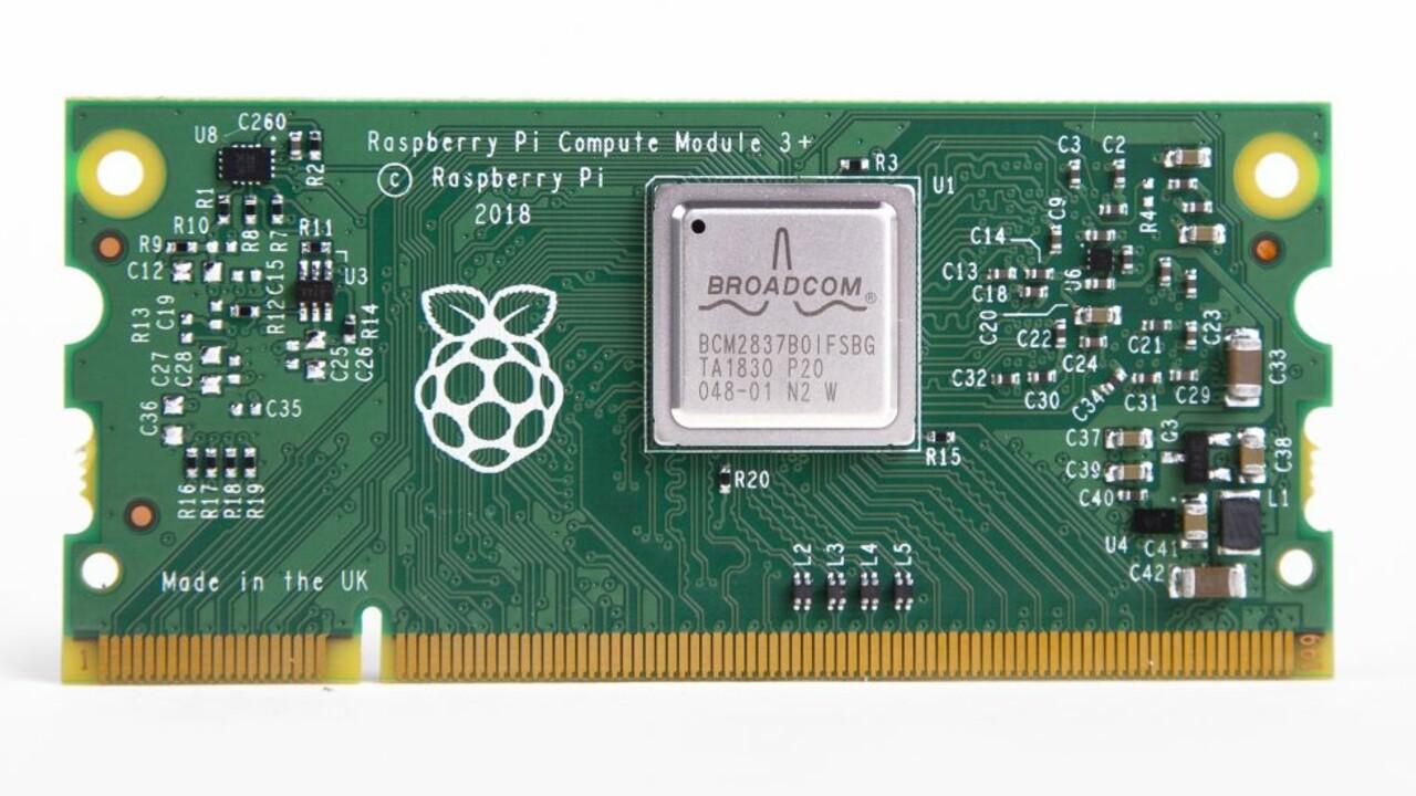 Compute Module 3+: Raspberry Pi 3 Model B+ im DDR2-SODIMM-Format