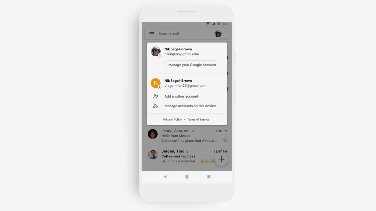 Google: Gmail-Apps erhalten neues Design und neue Funktionen
