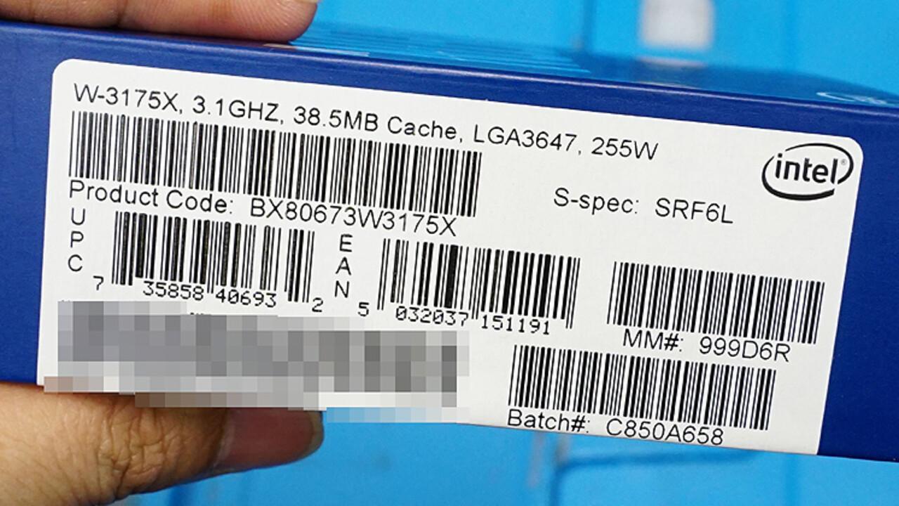 Jetzt verfügbar: Intel Xeon W-3175X für 2.999USD offiziell im Handel