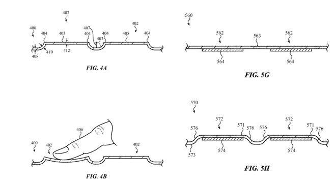 Zeichnung aus Apples Patentantrag zu Glas-Tastatur