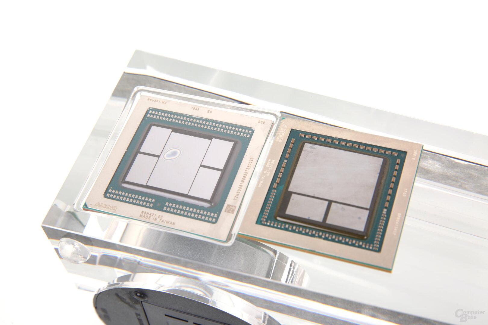 Vega 20 (links) und Vega 10 (rechts)
