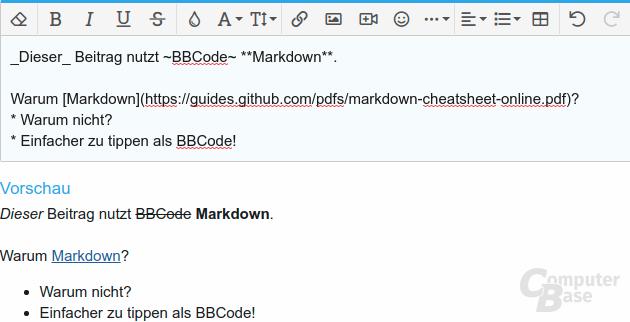 Markdown-Support im ComputerBase-Forum