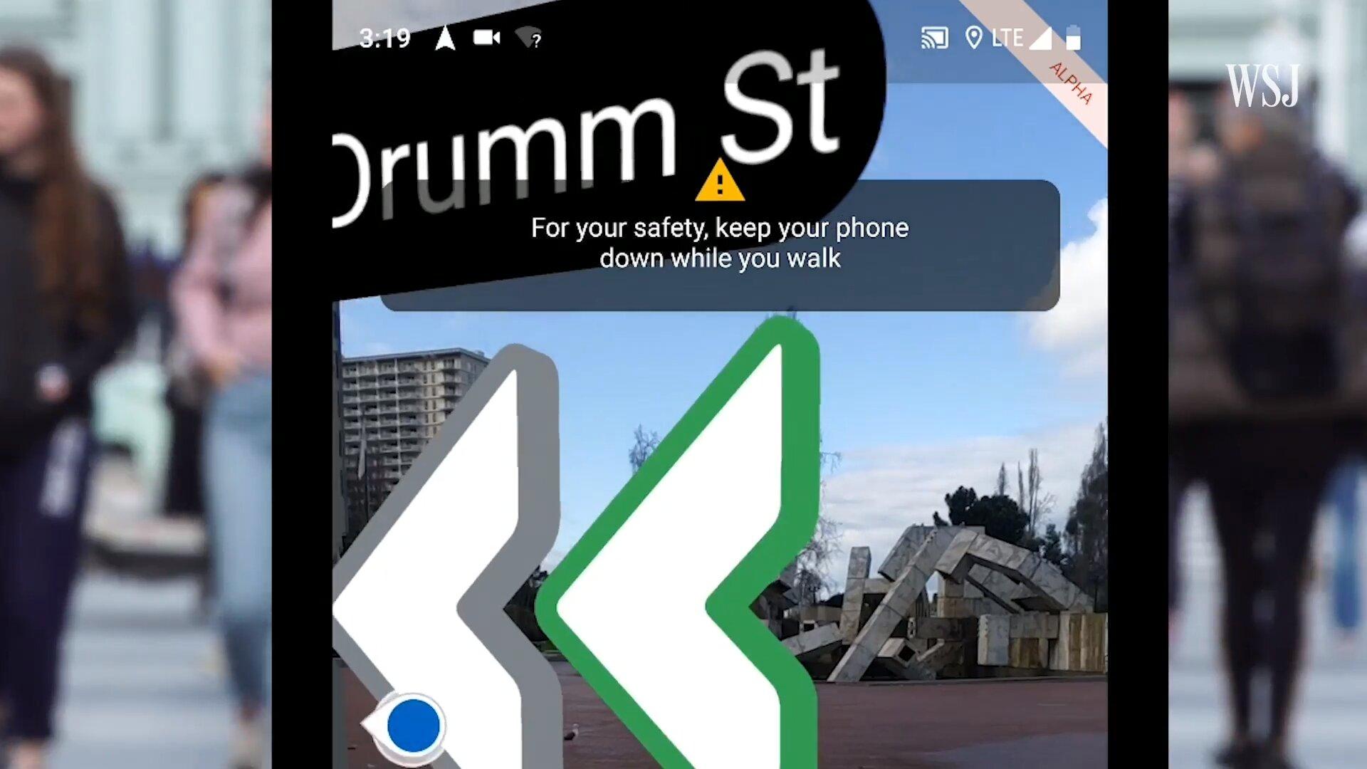Sicherheitshinweis in Google Maps