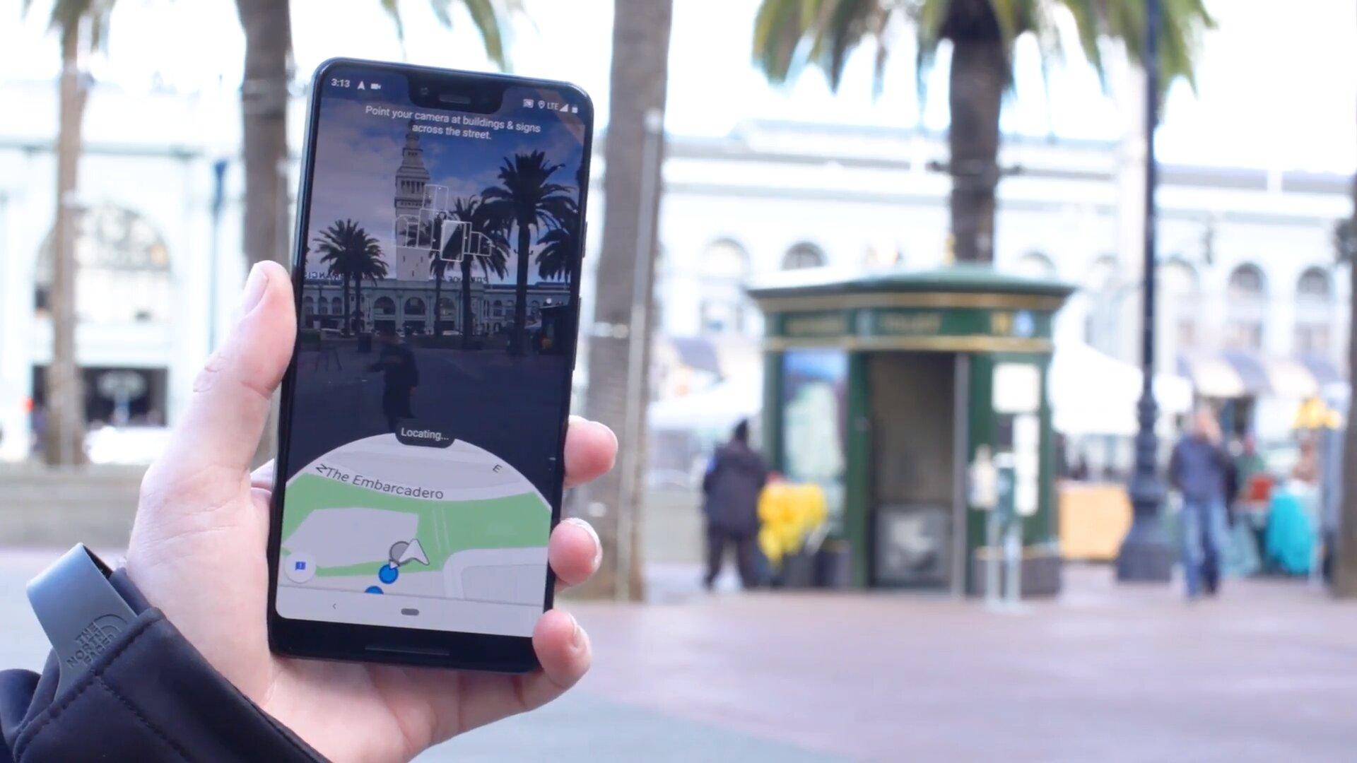 Google Maps muss zunächst die Umgebung erkennen