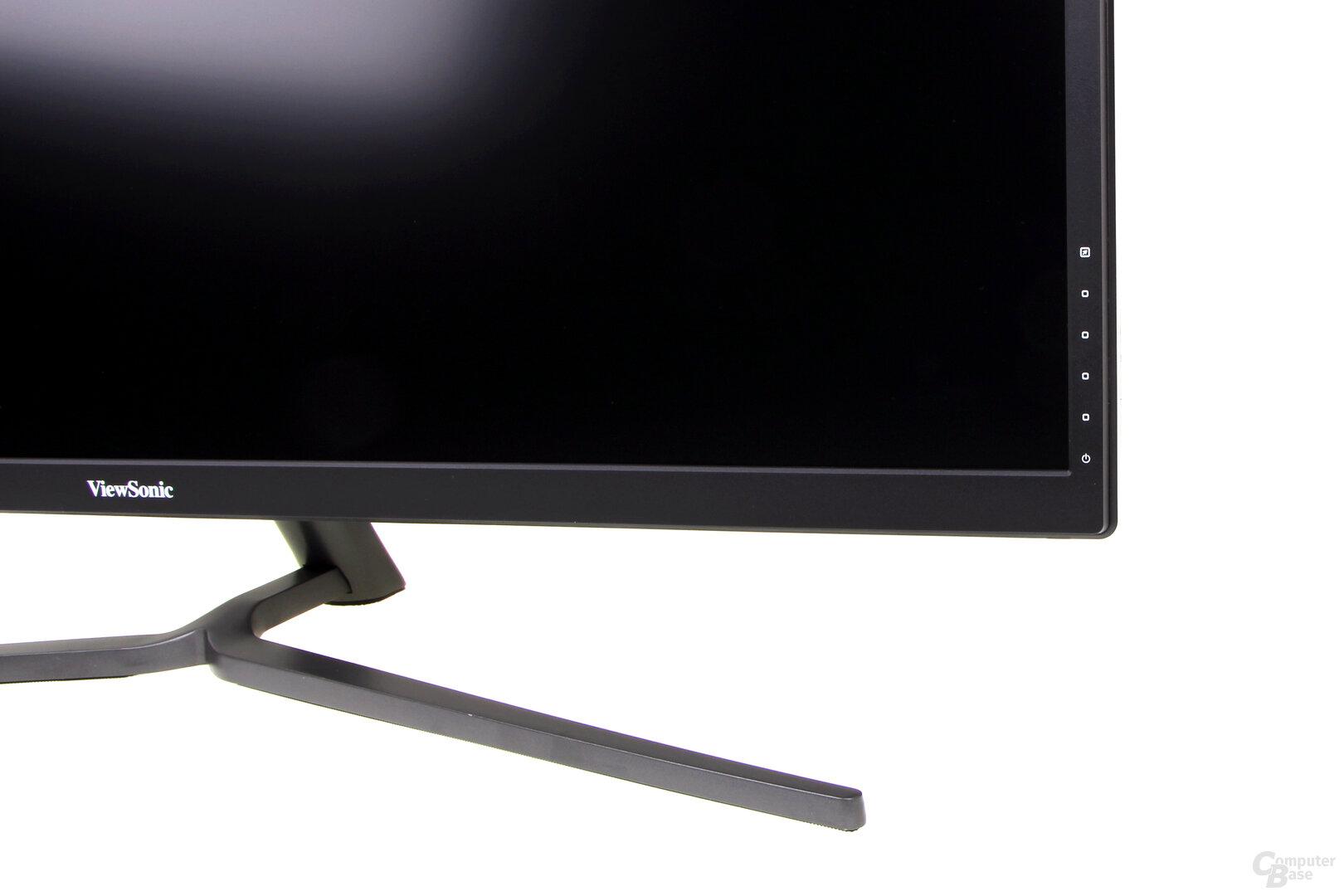 ViewSonic VX3211-4K – Die Knöpfe für das OSD sind rechts hinten platziert