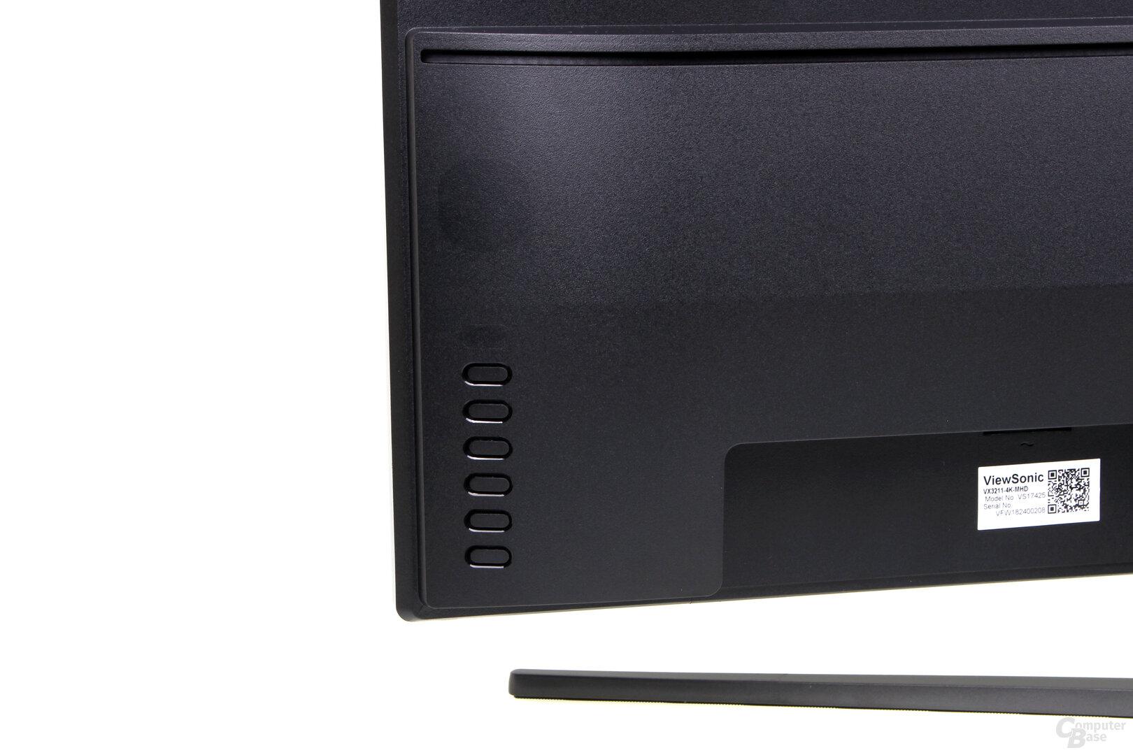 ViewSonic VX3211-4K – 6 Knöpfe für das OSD
