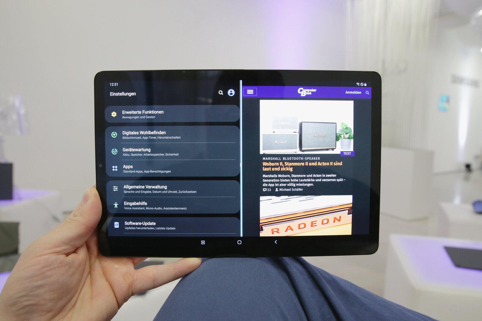 Galaxy Tab A 10.1 (2019) mit One UI im Dark Mode