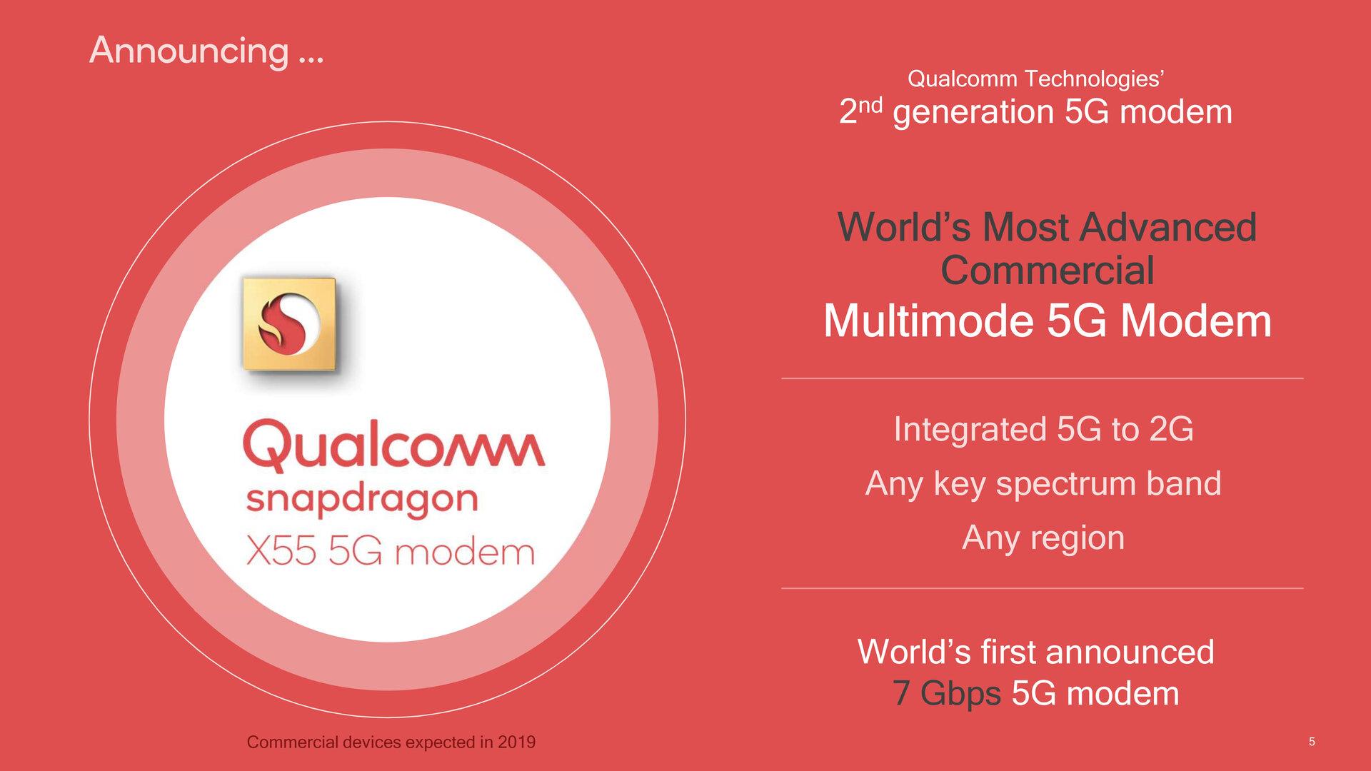 Das Snapdragon X55 ist das zweite 5G-Modem von Qualcomm