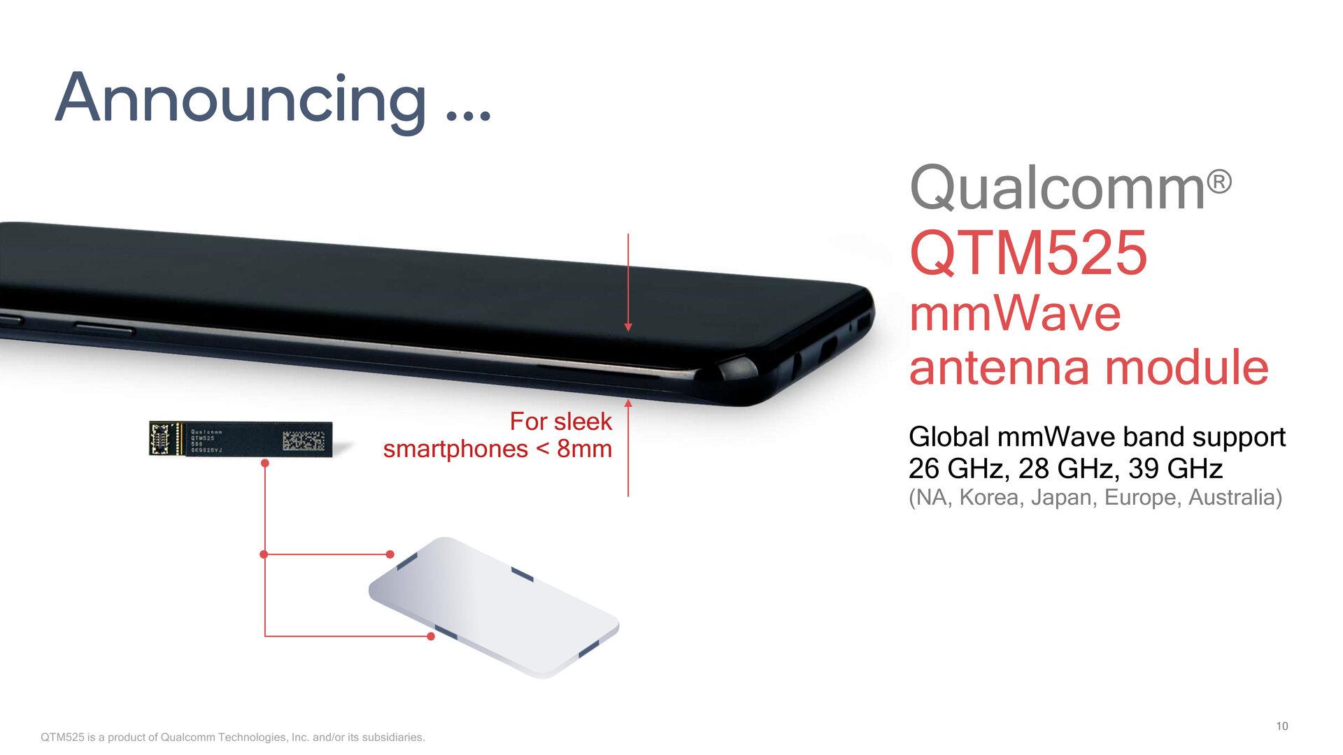 Das QTM525 ist Qualcomms bisher kleinstes mmWave-Antennenmodul