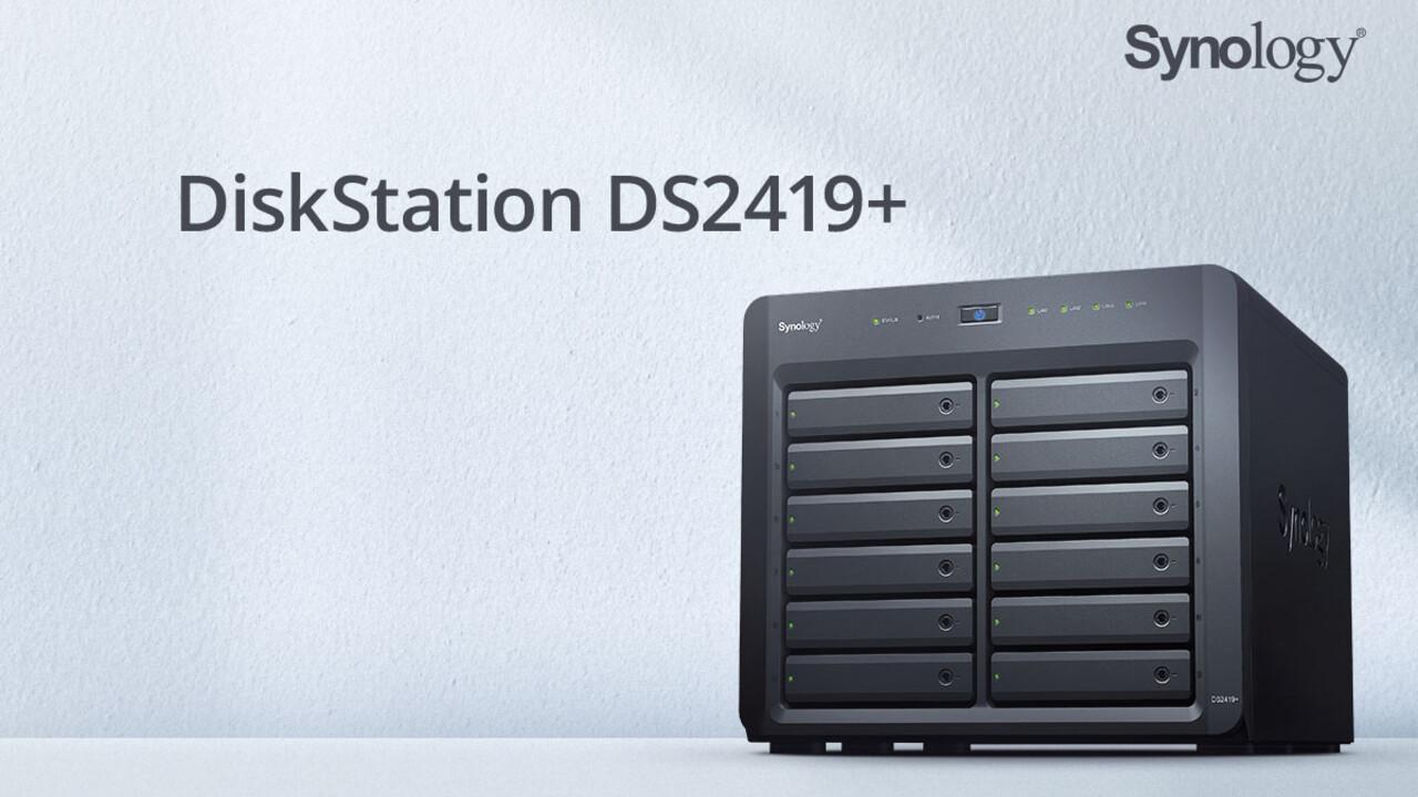 Synology DS1019+ und DS2419+: 10 GbE bleibt für 1.600Euro bei 12Einschüben optional