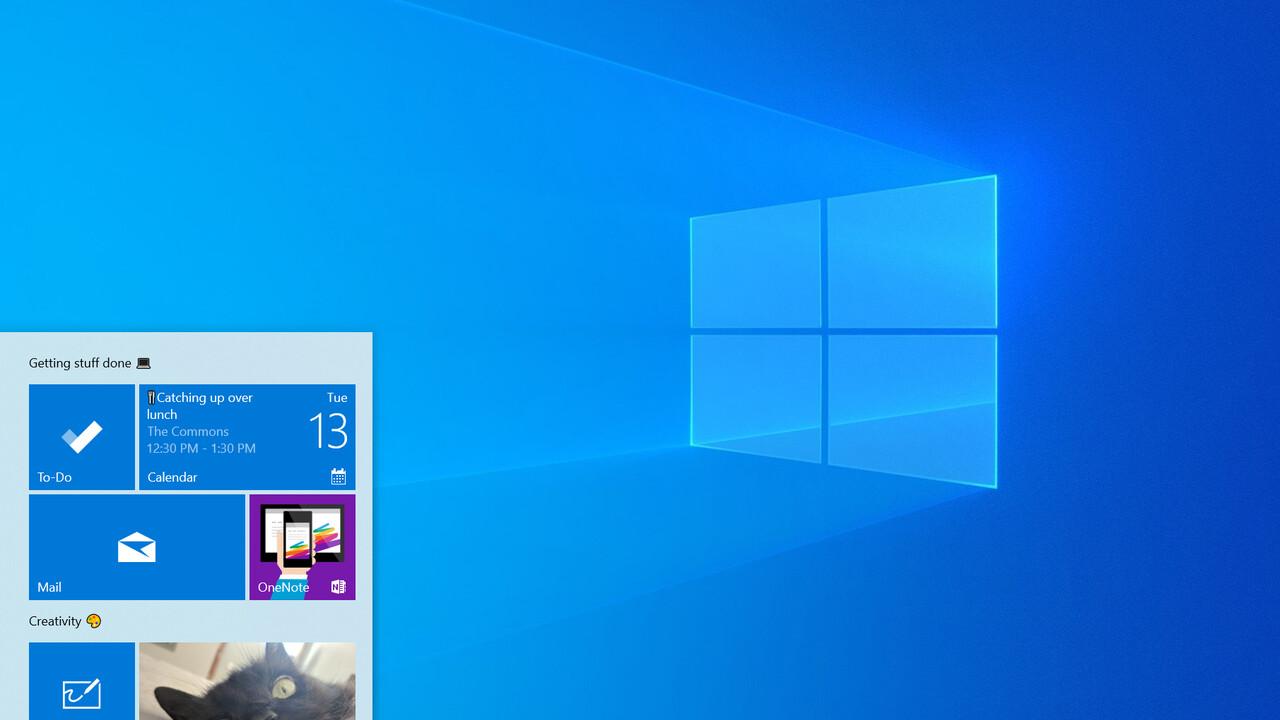 Windows 10: 20H1 bildet die Basis der Insider Preview Build 18836