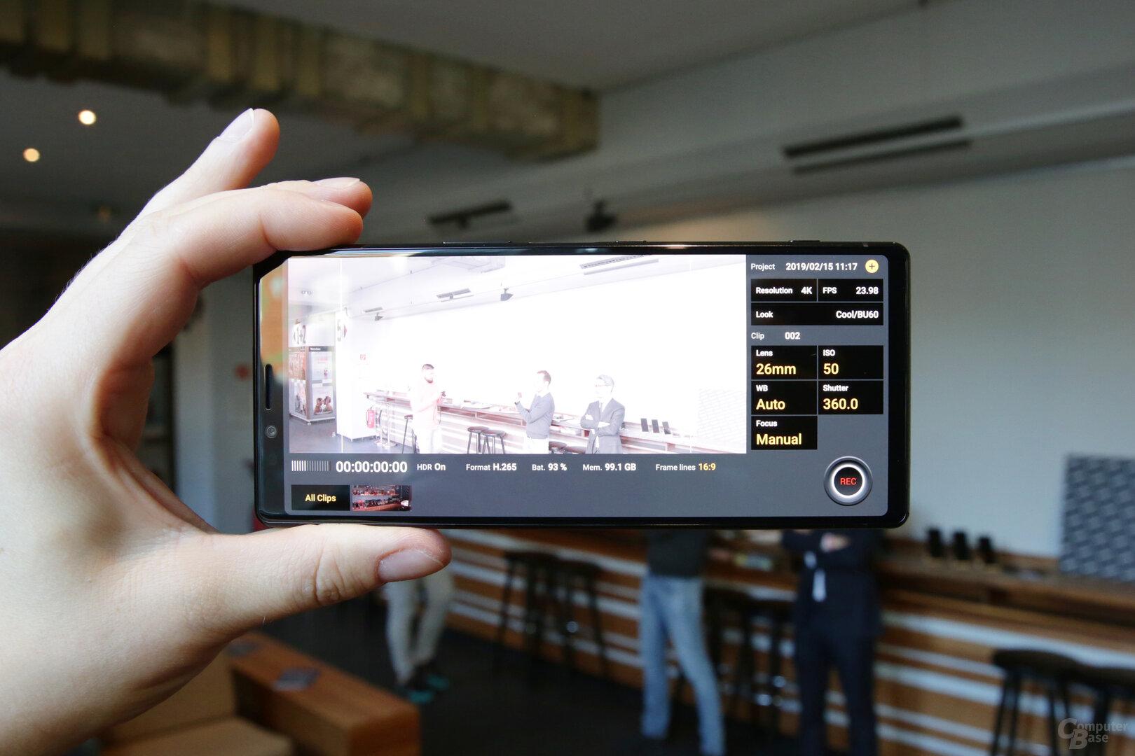 Cinema Pro App für semiprofessionelle Videoaufnahmen