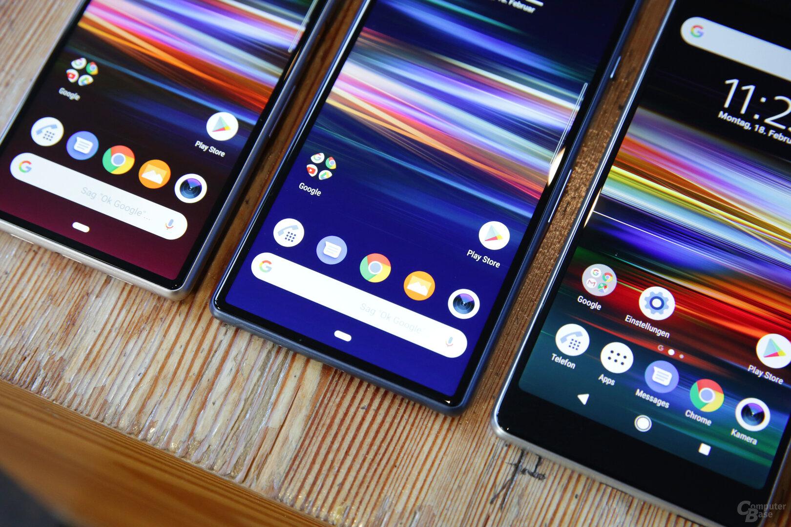 Displays mit 6,0Zoll, 6,5Zoll und 5,7Zoll