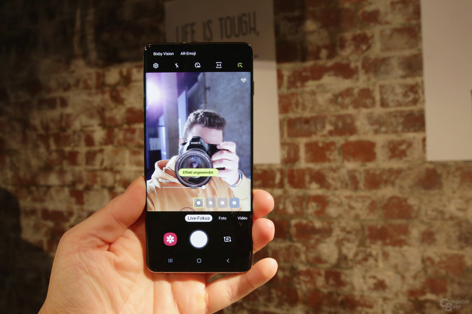 Selfie-Kamera im Kurztest mit Live Focus