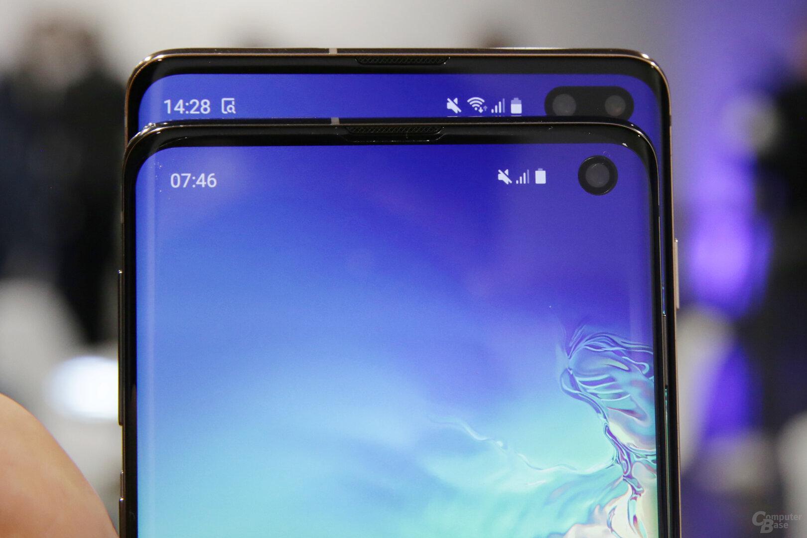 Die zweite Linse nutzt das Galaxy S10+ für den Bokeh-Effekt