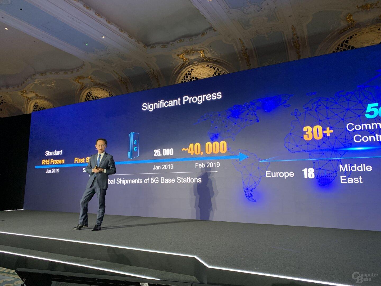 Anzahl von 5G Base Stations im Februar 2019