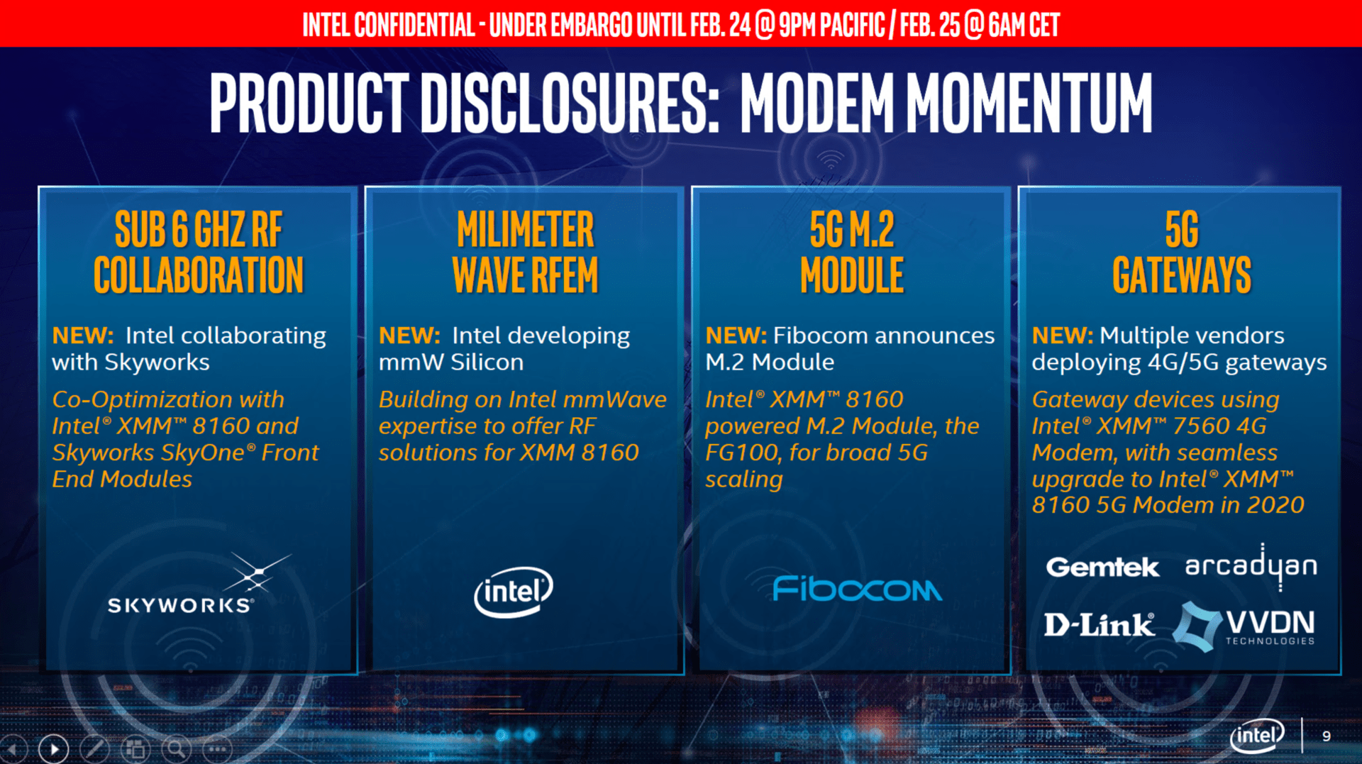 Intel zum MWC 2019