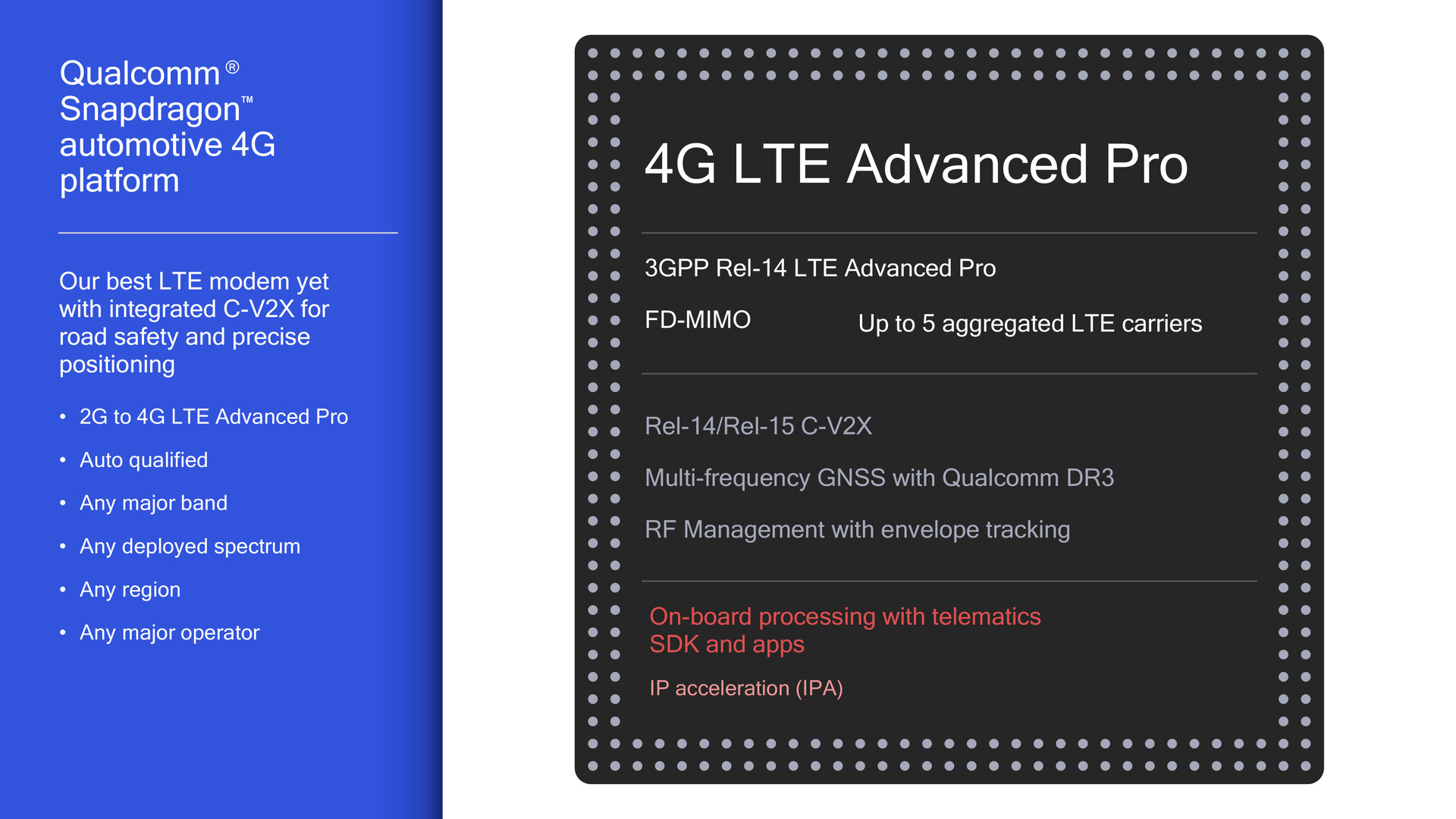 Snapdragon Automotive 4G Platform
