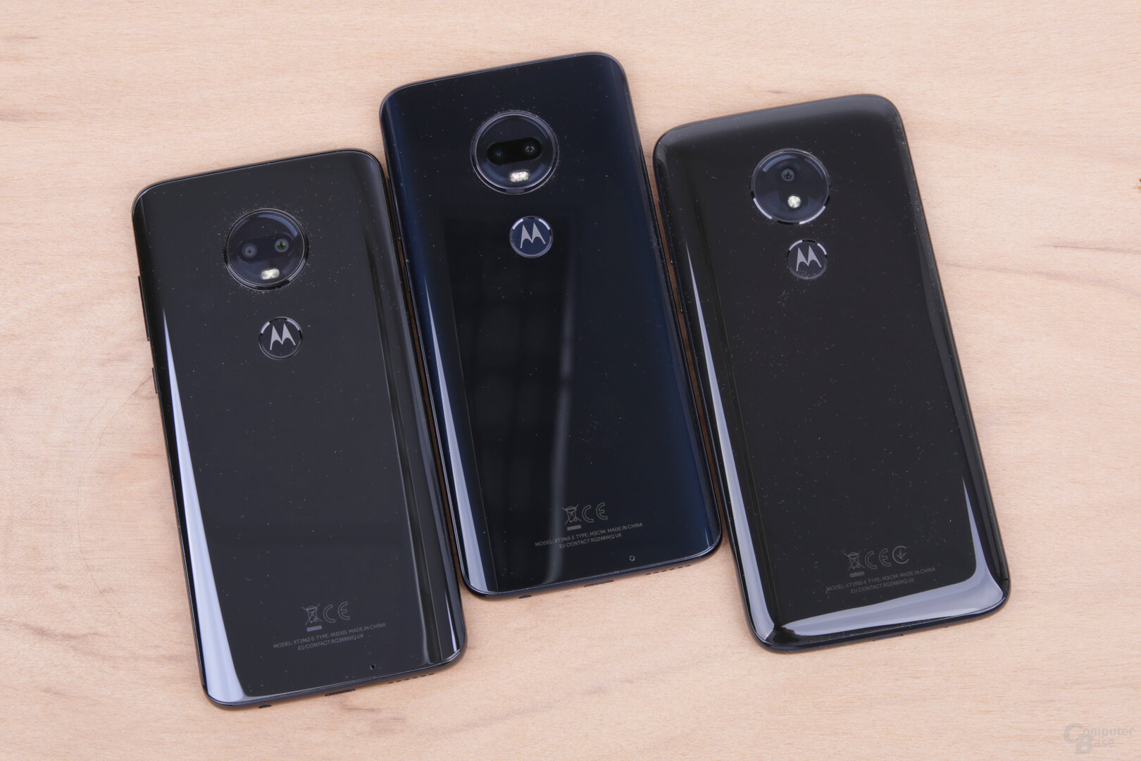 Moto-G7-Serie mit Rückseiten aus Glas