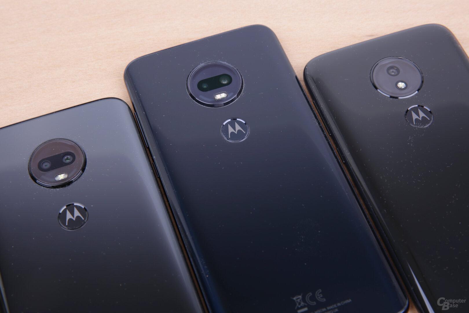 Das Motorola-Logo hinten ist gleichzeitig der Fingerabdrucksensor