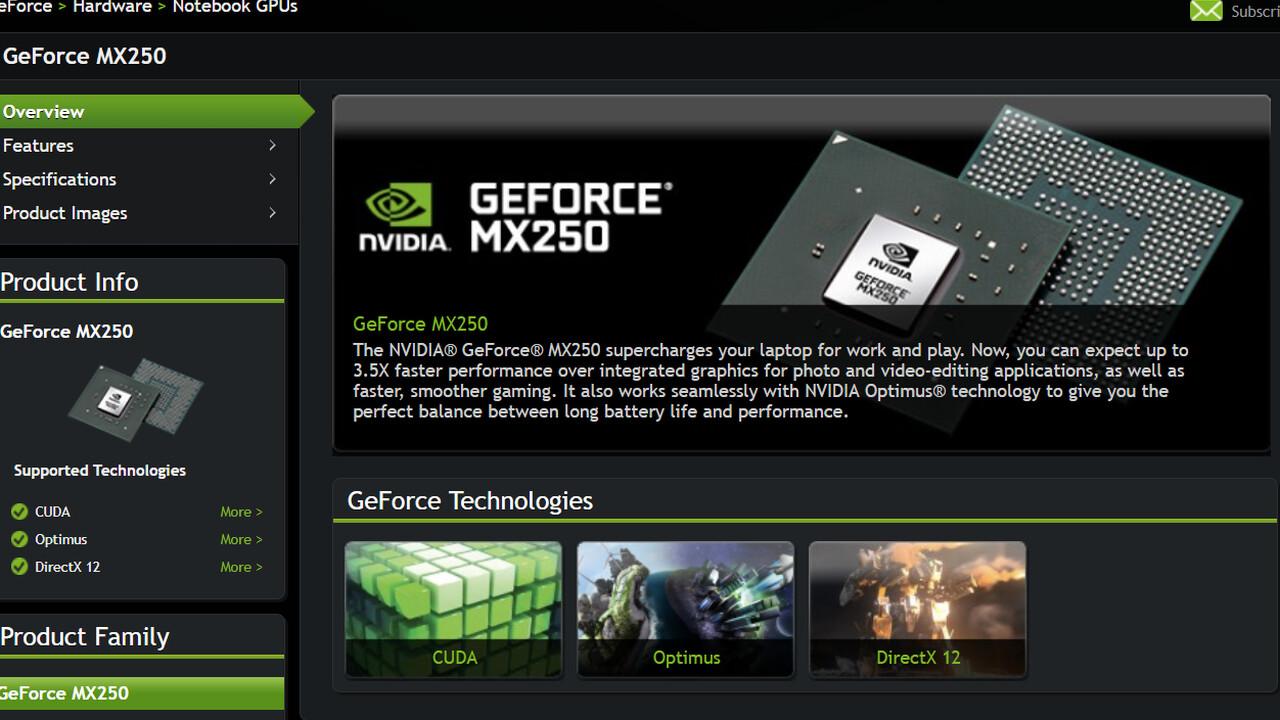 Notebook-Grafik: Nvidia GeForce MX250 und MX230 setzen auf Pascal