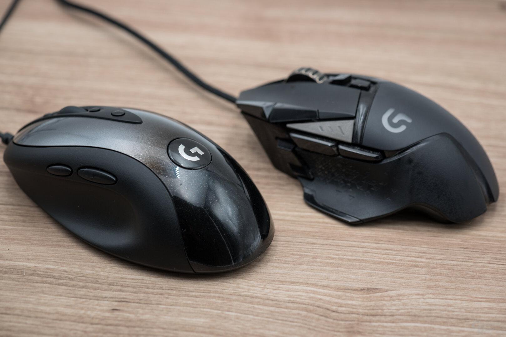 Logitech MX518 Legendary im Vergleich zur G502