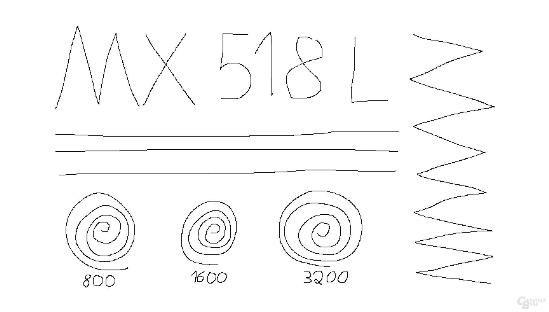 Logitech MX518 Legendary (1.000 Hz, Mikrofaseruntergrund)