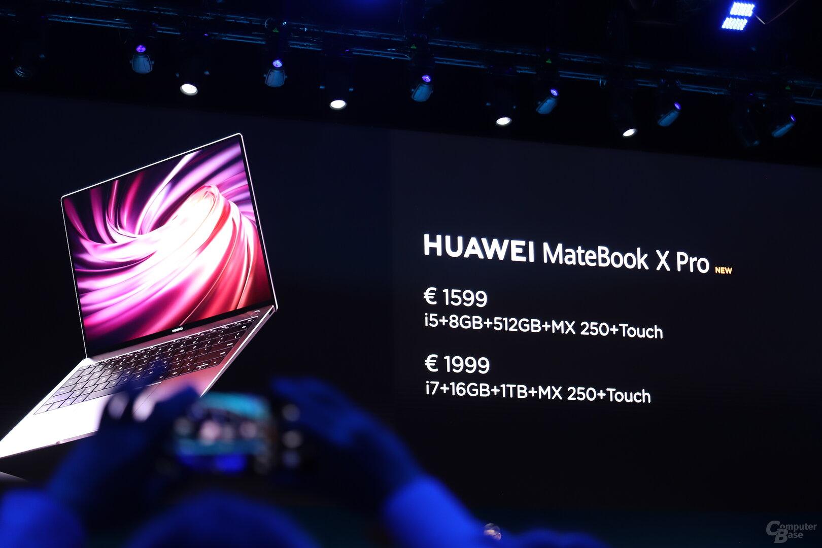 Die Preise für das neue MateBook X Pro