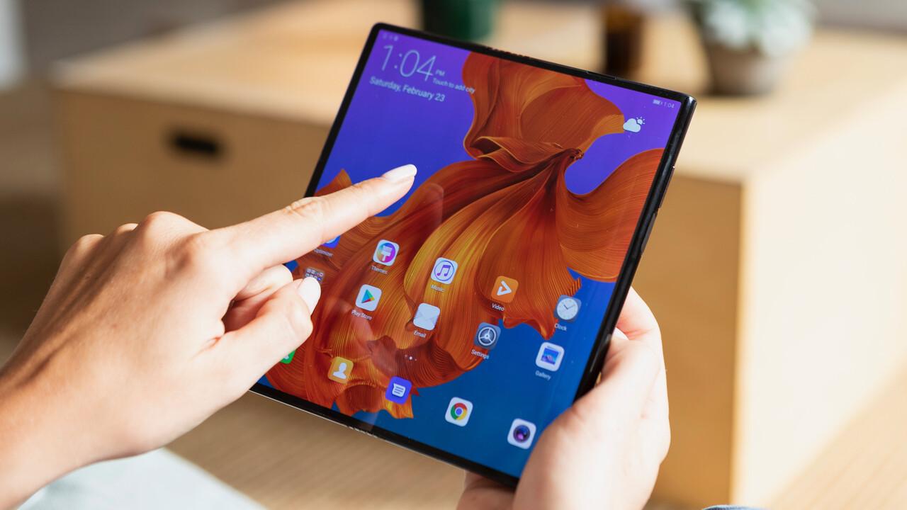Huawei: Mate X mit 5G lässt sich von 6,6Zoll auf 8Zoll aufklappen