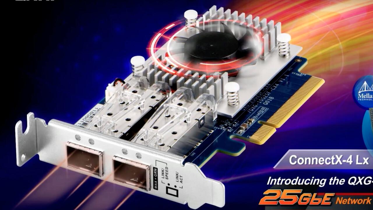 Dual-Port über PCIe: QNAP bringt 10- und 25GbE-Netzwerkkarte für NAS und PC