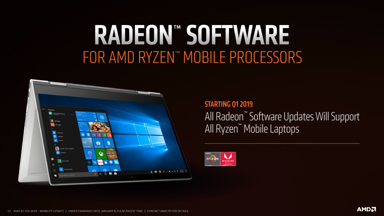 AMD-Grafiktreiber-Download: Der Adrenalin 19.2.3 vereint Desktop- mit mobilen GPUs