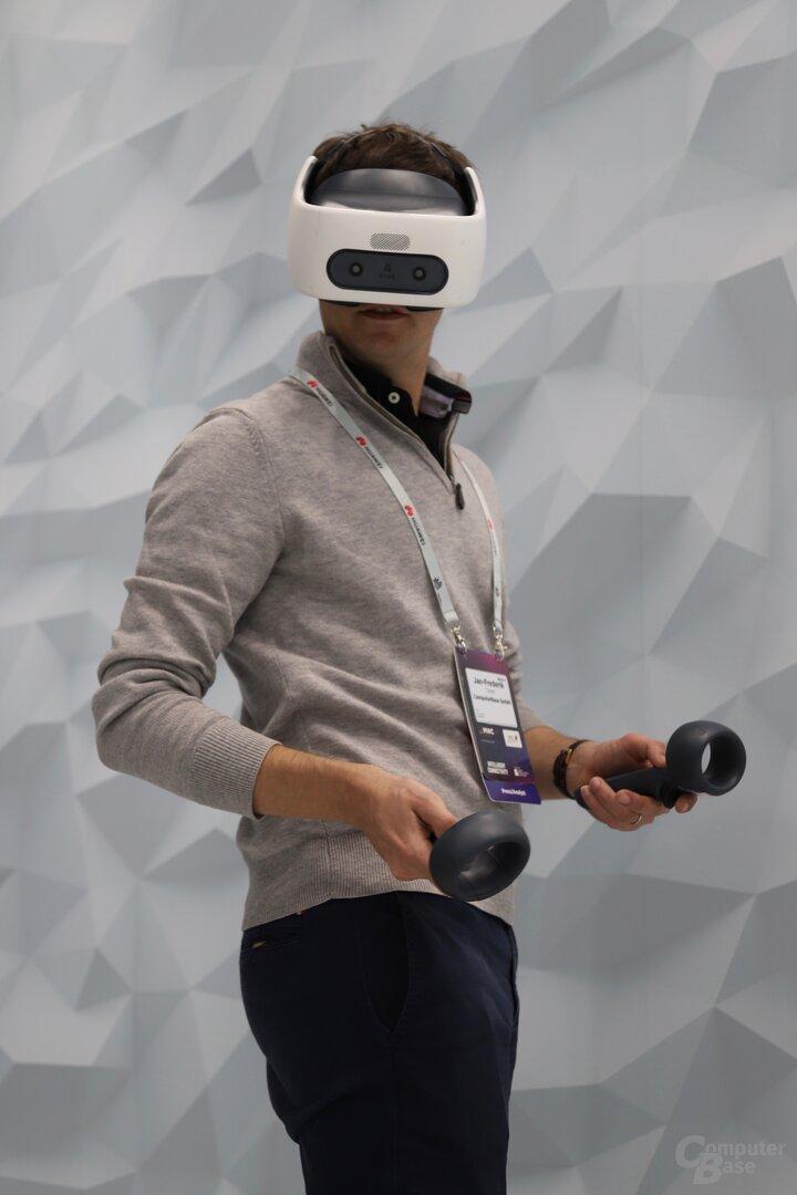 Die Vive Focus Plus kann zum MEC 2019 ausprobiert werden